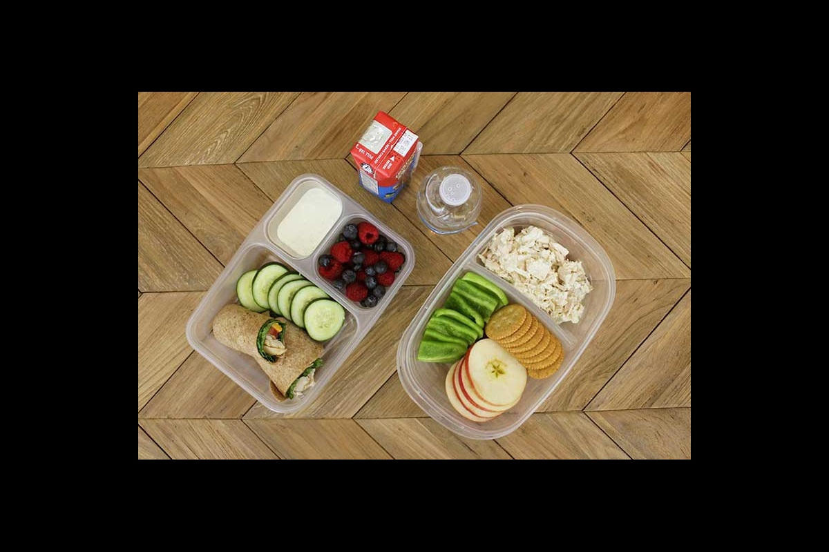 Homemade lunchable, chicken salad and chicken and guacamole school aged lunch ideas