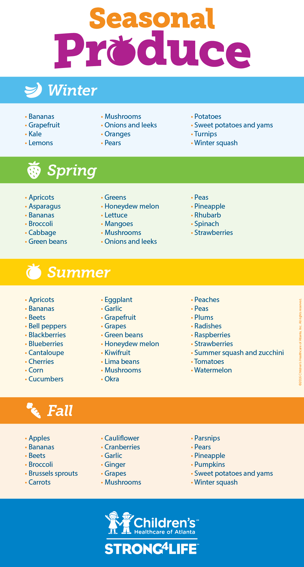 Seasonal Produce infographic