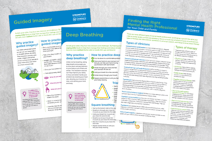 coping skills tip sheets